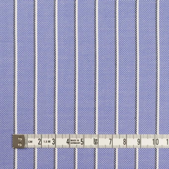 コットン×ストライプ(ラベンダーブルー)×オックスフォード イメージ4