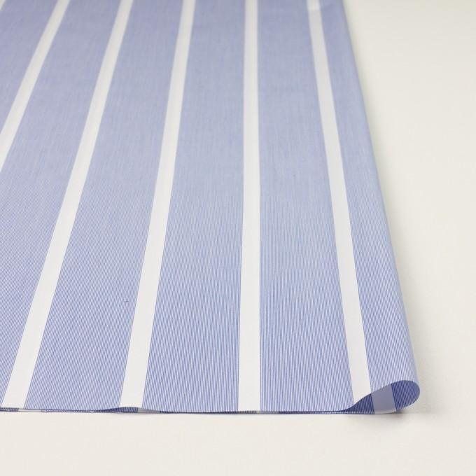コットン×ストライプ(ブルー)×ブロードジャガード イメージ3