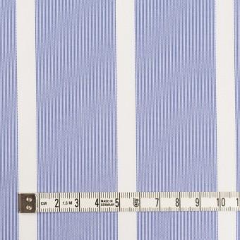 コットン×ストライプ(ブルー)×ブロードジャガード サムネイル4