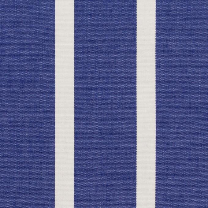 コットン×ストライプ(マリンブルー)×ブロード イメージ1