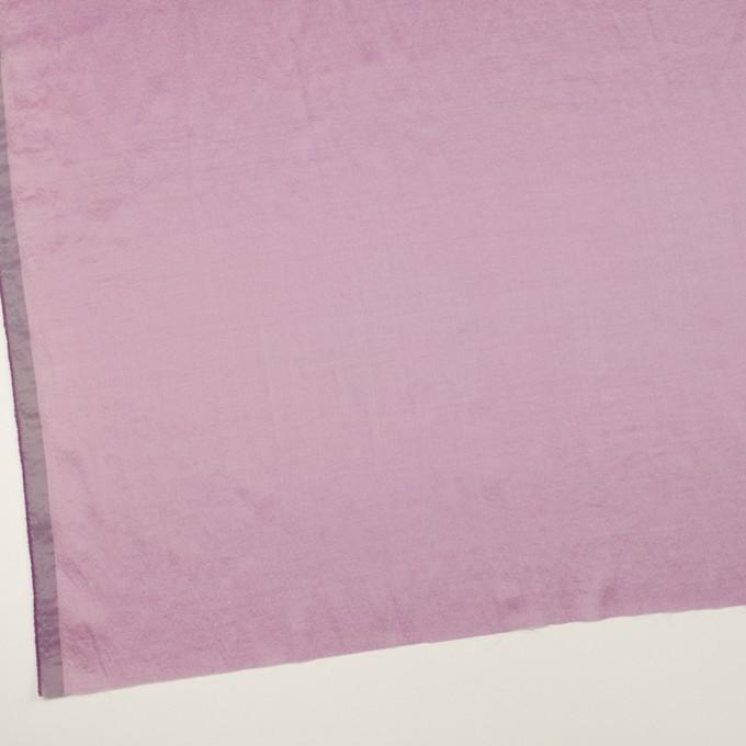 シルク&ナイロン混×無地(モーブ)×シャンブレー・シフォンストレッチ イメージ2