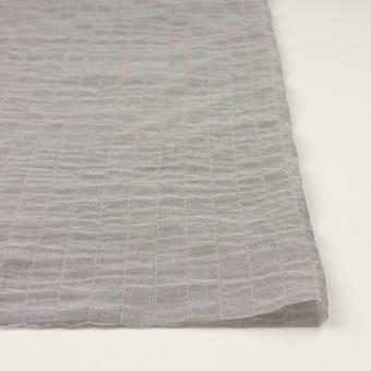 コットン&シルク混×チェック(グレー&ピンク)×シャンブレー・オーガンジーワッシャー サムネイル3