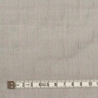 コットン&シルク混×チェック(グレー&ピンク)×シャンブレー・オーガンジーワッシャー サムネイル4