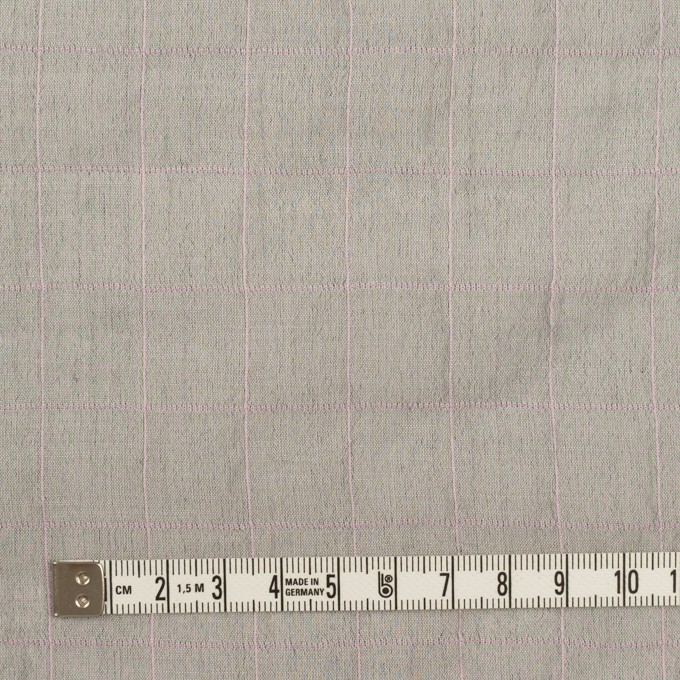 コットン&シルク混×チェック(グレー&ピンク)×シャンブレー・オーガンジーワッシャー イメージ4