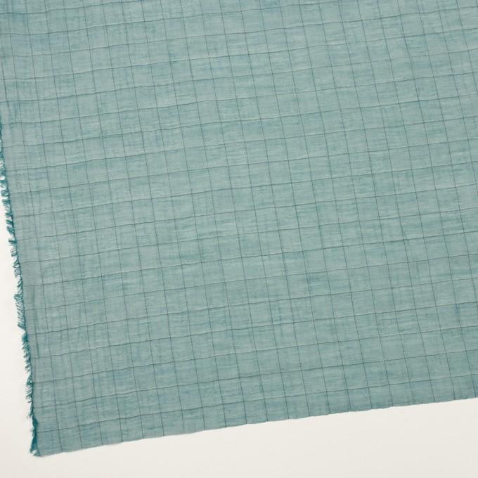 コットン&シルク混×チェック(バルビゾン&ブラック)×シャンブレー・オーガンジーワッシャー イメージ2