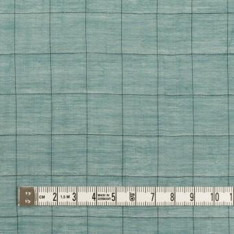 コットン&シルク混×チェック(バルビゾン&ブラック)×シャンブレー・オーガンジーワッシャー サムネイル4