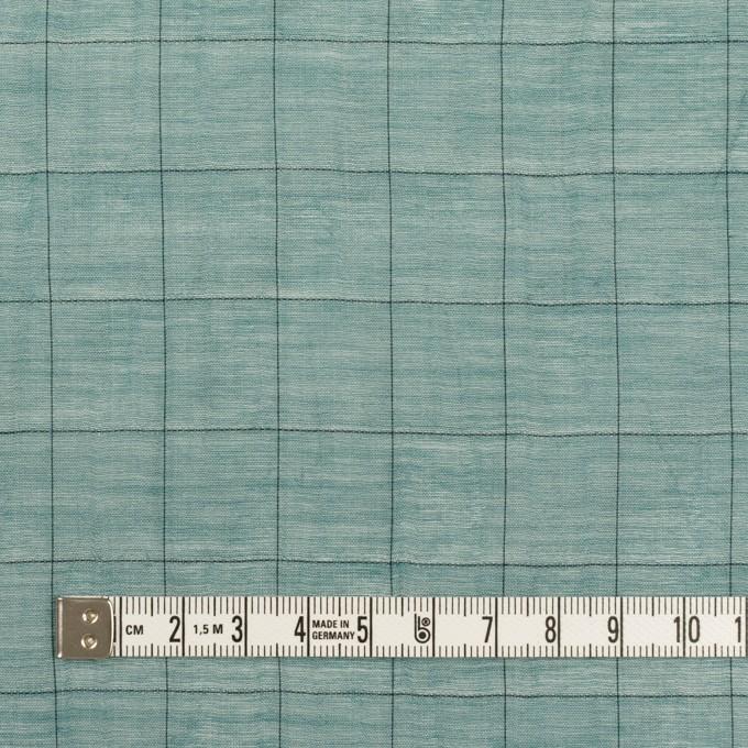 コットン&シルク混×チェック(バルビゾン&ブラック)×シャンブレー・オーガンジーワッシャー イメージ4