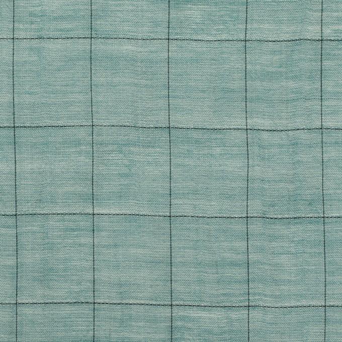 コットン&シルク混×チェック(バルビゾン&ブラック)×シャンブレー・オーガンジーワッシャー イメージ1