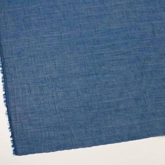 コットン&シルク混×チェック(インクブルー&ライム)×シャンブレー・オーガンジーワッシャー サムネイル2