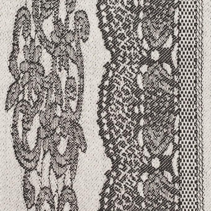 コットン&ポリウレタン×レース(オイスター&チャコール)×ジャガード・ストレッチ イメージ1