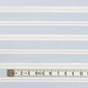 【90cmカット】コットン&リヨセル×ボーダー(サックス)×ローン サムネイル4