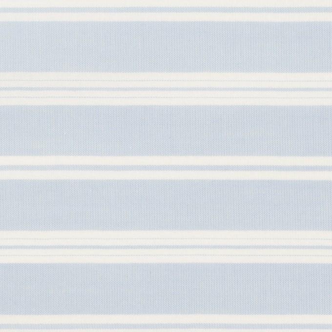 【90cmカット】コットン&リヨセル×ボーダー(サックス)×ローン イメージ1