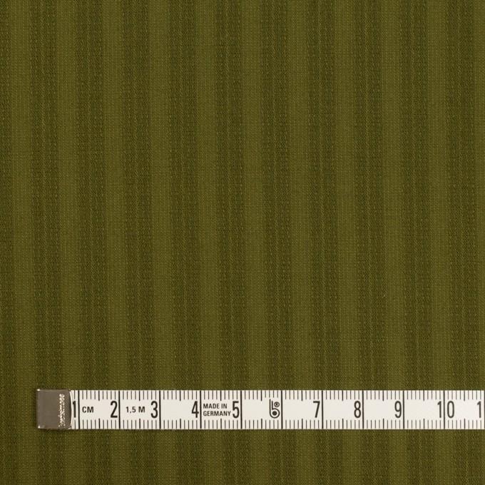 コットン×ストライプ(カーキグリーン)×シーチングドビー イメージ4