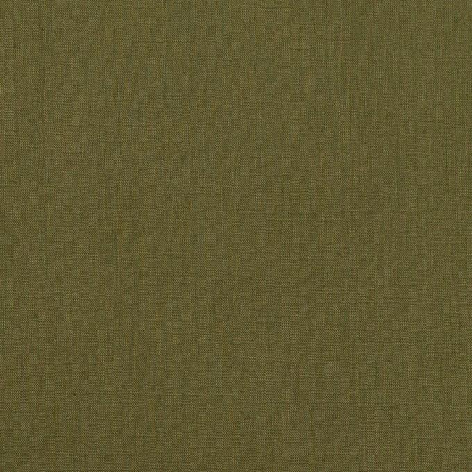コットン×無地(カーキグリーン)×ローン イメージ1
