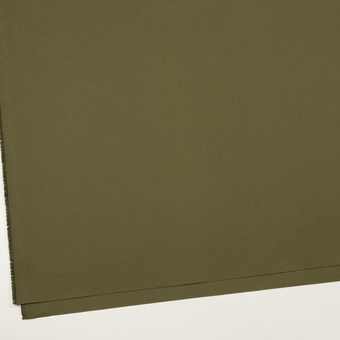 コットン×無地(カーキグリーン)×高密ポプリン_イタリア製 イメージ2