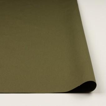 コットン×無地(カーキグリーン)×高密ポプリン_イタリア製 サムネイル3