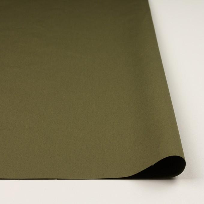 コットン×無地(カーキグリーン)×高密ポプリン_イタリア製 イメージ3