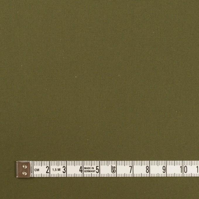 コットン×無地(カーキグリーン)×高密ポプリン_イタリア製 イメージ4