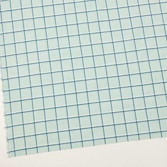 コットン×チェック(シャーベットグリーン、インクブルー&オフホワイト)×ボイルジャガード サムネイル2