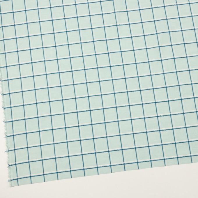 コットン×チェック(シャーベットグリーン、インクブルー&オフホワイト)×ボイルジャガード イメージ2