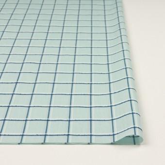 コットン×チェック(シャーベットグリーン、インクブルー&オフホワイト)×ボイルジャガード サムネイル3