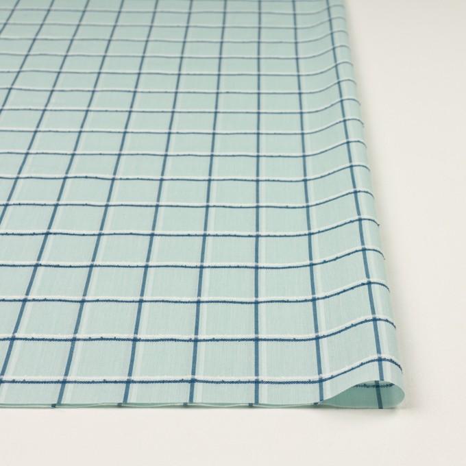 コットン×チェック(シャーベットグリーン、インクブルー&オフホワイト)×ボイルジャガード イメージ3