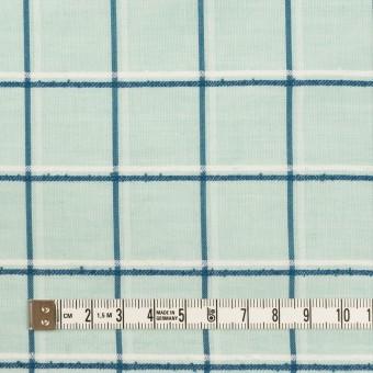 コットン×チェック(シャーベットグリーン、インクブルー&オフホワイト)×ボイルジャガード サムネイル4