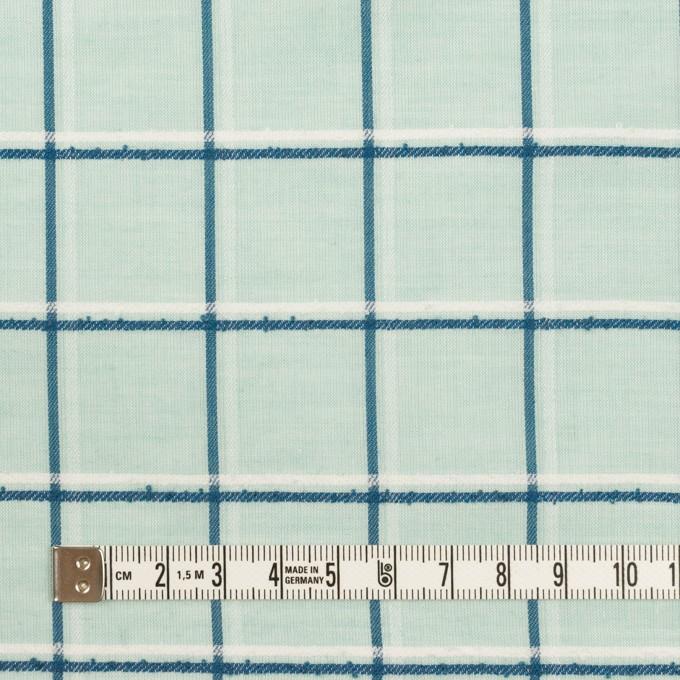 コットン×チェック(シャーベットグリーン、インクブルー&オフホワイト)×ボイルジャガード イメージ4