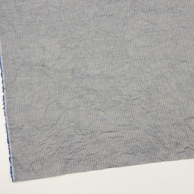コットン×ストライプ(シトロン&ブルー)×シャンブレー・ボイルワッシャー イメージ2