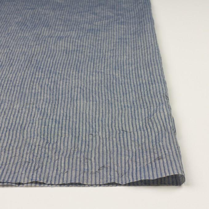 コットン×ストライプ(シトロン&ブルー)×シャンブレー・ボイルワッシャー イメージ3