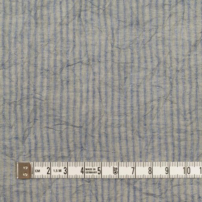 コットン×ストライプ(シトロン&ブルー)×シャンブレー・ボイルワッシャー イメージ4