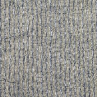 コットン×ストライプ(シトロン&ブルー)×シャンブレー・ボイルワッシャー