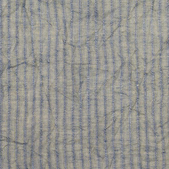 コットン×ストライプ(シトロン&ブルー)×シャンブレー・ボイルワッシャー イメージ1
