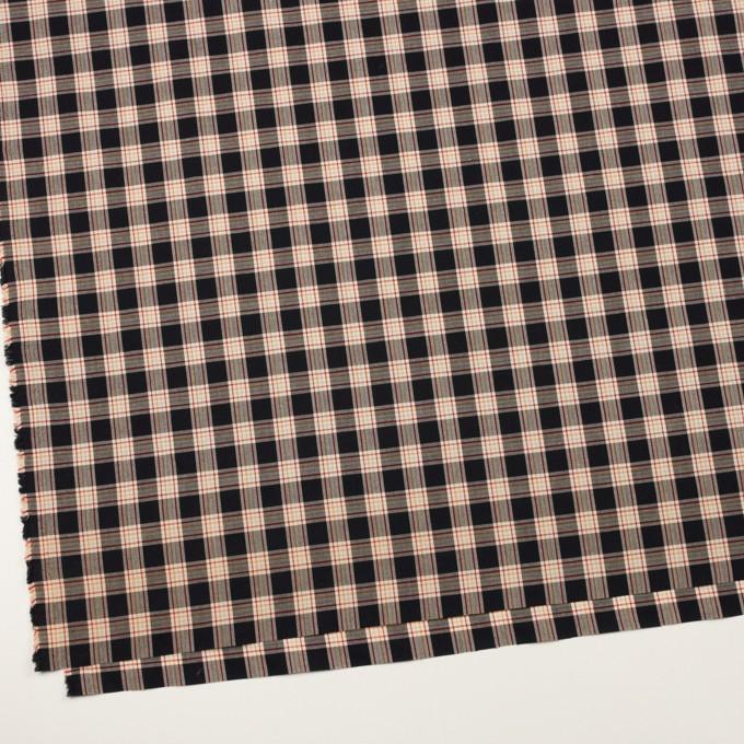 コットン×チェック(ブラック、ベリー&オレンジ)×ローン イメージ2