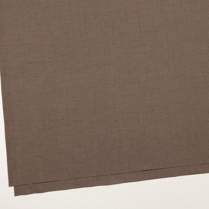 コットン&ポリエステル混×チェック(モカ&ブラック)×千鳥格子ストレッチ イメージ2