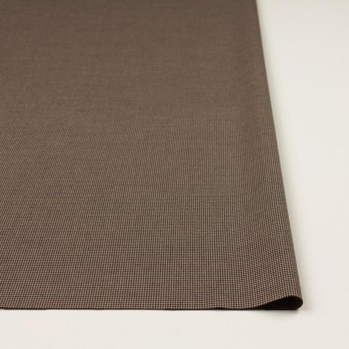 コットン&ポリエステル混×チェック(モカ&ブラック)×千鳥格子ストレッチ イメージ3