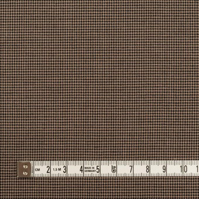 コットン&ポリエステル混×チェック(モカ&ブラック)×千鳥格子ストレッチ イメージ4