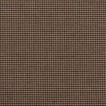 コットン&ポリエステル混×チェック(モカ&ブラック)×千鳥格子ストレッチ