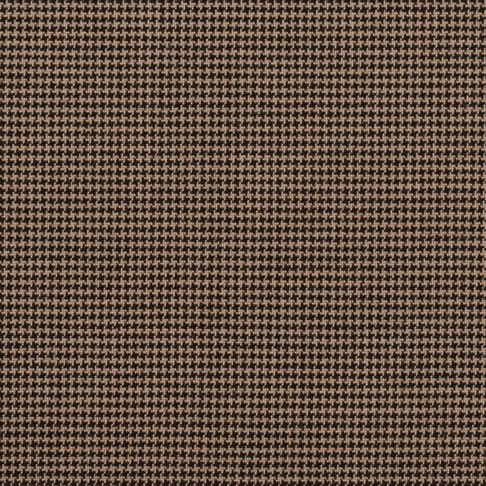 コットン&ポリエステル混×チェック(モカ&ブラック)×千鳥格子ストレッチ イメージ1