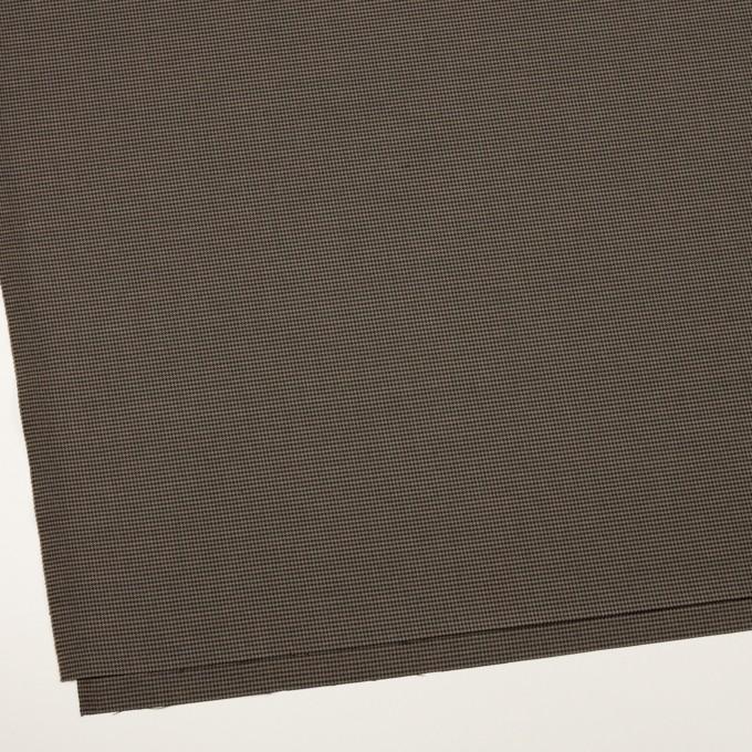 コットン&ポリエステル混×チェック(カーキ&ブラック)×千鳥格子ストレッチ イメージ2