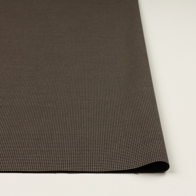 コットン&ポリエステル混×チェック(カーキ&ブラック)×千鳥格子ストレッチ イメージ3