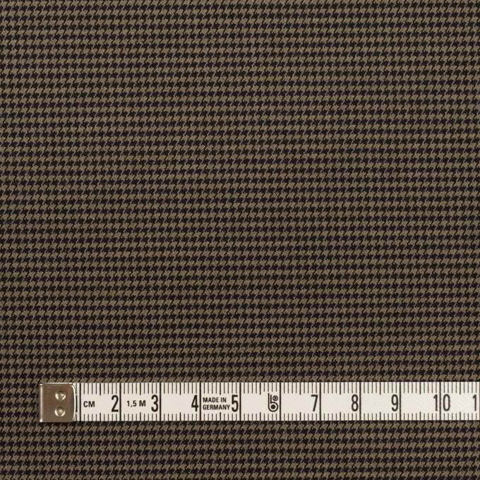 コットン&ポリエステル混×チェック(カーキ&ブラック)×千鳥格子ストレッチ イメージ4