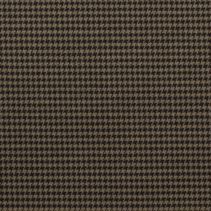 コットン&ポリエステル混×チェック(カーキ&ブラック)×千鳥格子ストレッチ イメージ1