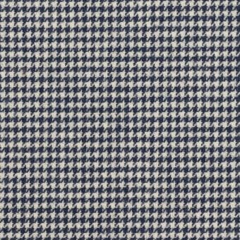 コットン×チェック(アイボリー&ネイビー)×千鳥格子 サムネイル1