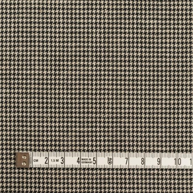 コットン×チェック(エクリュ&ブラック)×千鳥格子 イメージ4