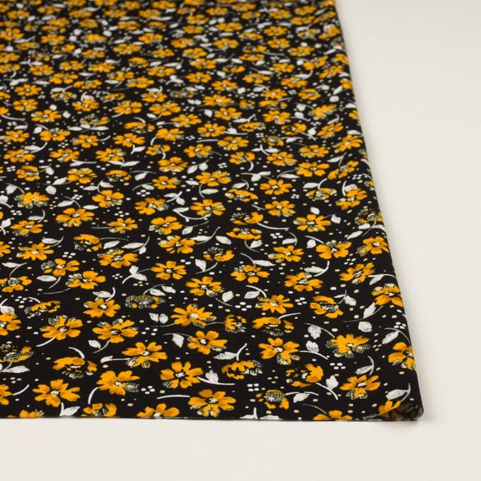 レーヨン×フラワー(ブラック&イエローゴールド)×デシン イメージ3