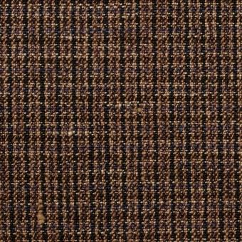 リネン×チェック(モカブラウン&ブラック)×キャンバス サムネイル1