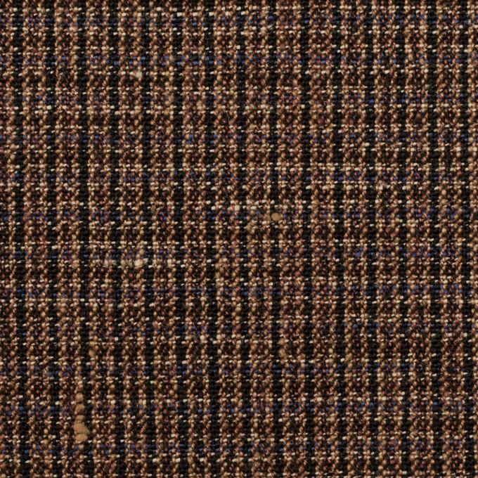 リネン×チェック(モカブラウン&ブラック)×キャンバス イメージ1