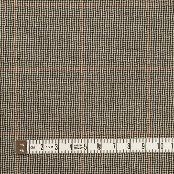コットン×チェック(ベージュ&ブラック)×キャンバス イメージ4