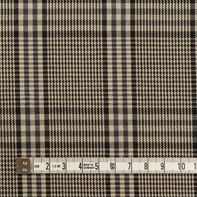 コットン×チェック(グレイッシュベージュ&チャコール)×サージ イメージ4